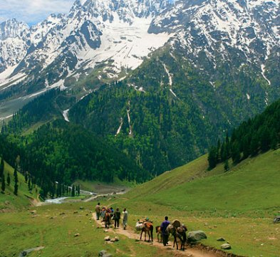 Kashmir is a beautiful place to visit