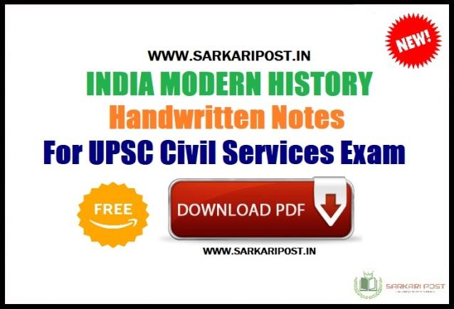 India-Modern-History-Notes